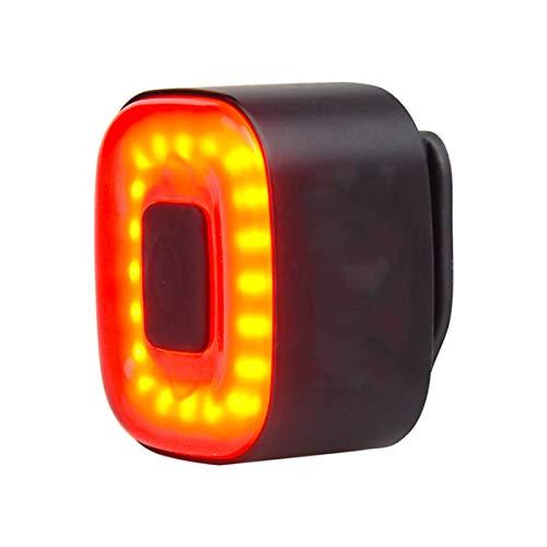 YING Luz De Bicicleta LED Recargable USB, Luz De Bicicleta Inteligente CUBELITE II, Inducción De Freno, Modo De Iluminación Múltiple, IPX5 A Prueba De Agua,Negro