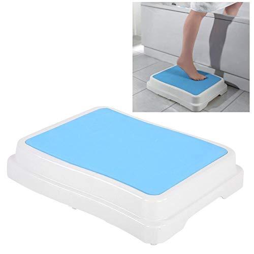 Traptrede voor badkamer, badkuip, stapelbaar, badhulp, anti-slip oppervlak en anti-slip voeten, belastbaar tot 189 kg hoogte 10 cm voor veilig instappen in de badkuip douche.