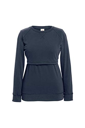 Boob - Stillshirt Umstandshirt B-Warmer 0297 Steel Blue Gr. M