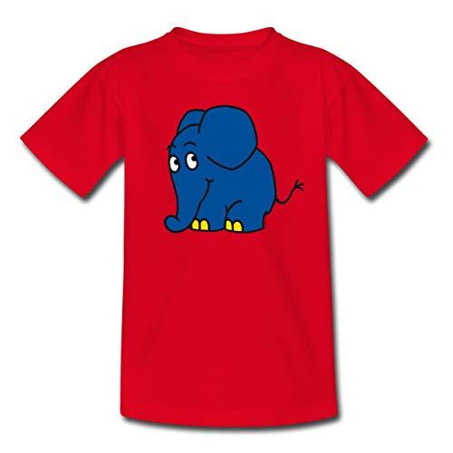 Sendung mit dem Elefanten Kleiner Elefant Kinder T-Shirt, 110-116, Rot