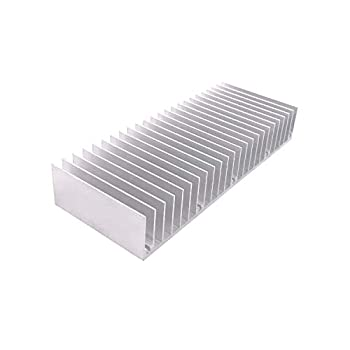 Awxlumv Aluminum Heatsink 60 x150 x 25 mm / 2.36x 5.91x 0.98 Inch Radiator for Circuit Board PCB Heat Sinks Led Cooling Cooler Amplifier Transistor Semiconductor Devices with 24 pcs Fins - Sliver
