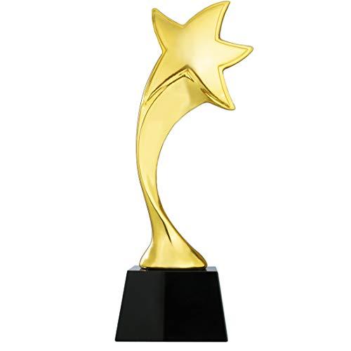 H&D HYALINE & DORA Gold Star Resin Award Trofee met glazen basis op maat Trofeeën geven, Souvenir