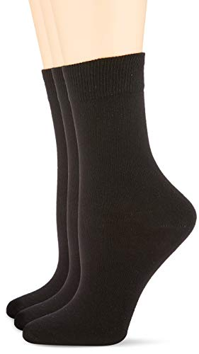 Nur Die Damen Socken 487819/Damen Passt Perfekt Socken 3er, Gr. 39-42, Schwarz (schwarz 940)