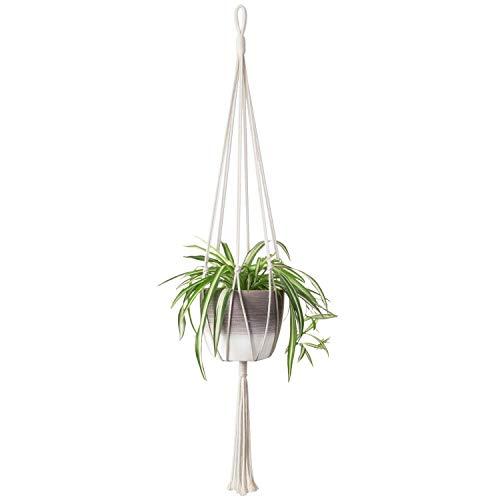 Moderne Plantenhanger 'Minimalist' - 105 CM - Handgemaakt Touw / Rope - Plantenhouder - Hangplant - Planten Accessoires - Handmade Plantenhangers - Planthanger - Voor binnen en buiten - Stijlvol je bloempot ophangen (1)