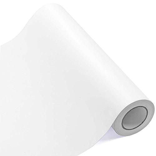 Self Adhesive Vinyl 12 Inches by 25 Feet Matte White Permanent Vinyl Roll for Signs, Scrapbooking, Silhouette Cameo, and Other Craft Cutters