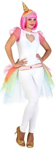 Atosa 23106 carnavalskostuum, dames, wit/bont, M-L