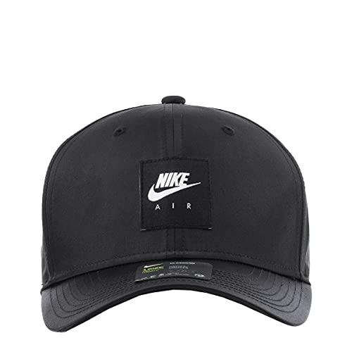 NIKE U NSW CLC99 Air HBR Cap Hat, Black, 1SIZE Unisex-Adult