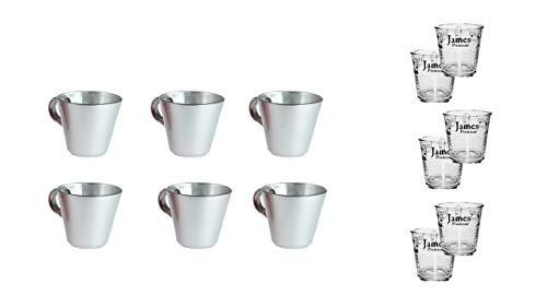 James Premium Set mit 6 Espressotassen + 6 Wassergläser