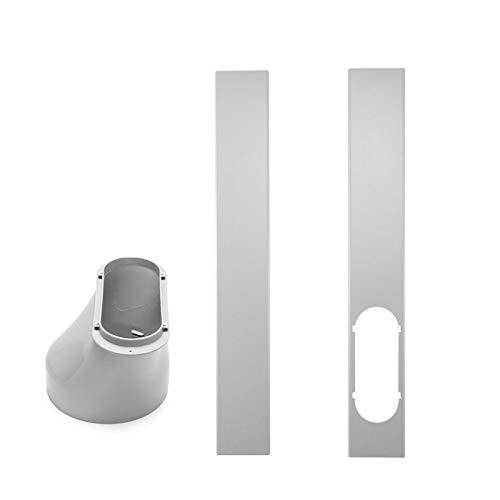 PW TOOLS Kit de Deslizamiento de Ventana Placa Adaptador de Ventana para Aire Acondicionado portátil, Placa de Sellado de Ventana Ajustable, Kit de Conector de Manguera de Escape(3 Piezas)