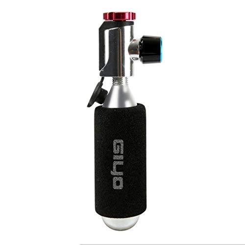 Gugutogo Giyo Bicicleta Botella Inflable rápida CO2 Botella de Acero pequeña Herramienta de reparación de neumáticos Bicicleta de montaña Bicicleta de Carretera Cabeza Inflable portátil