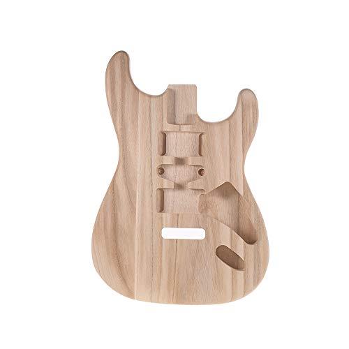 Muslady Incompiuto gitaarbehuizing handgemaakt, lichaam voor elektrische gitaaronderdelen voor karren ST01-TM candlenut