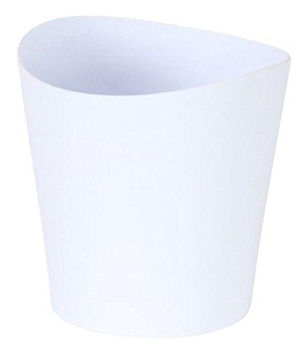 greemotion Orchideentopf in Weiß Blumentopf klein, Kunststoff-Übertopf für Orchideen als Fensterbank-Topf