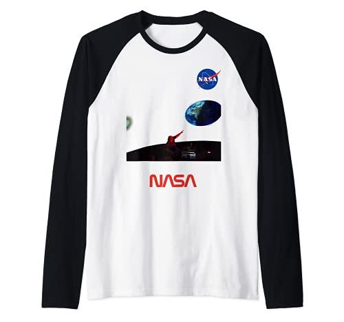 Planetario Della NASA Un Tour Del Sistema Solare Arte Regalo Maglia con Maniche Raglan