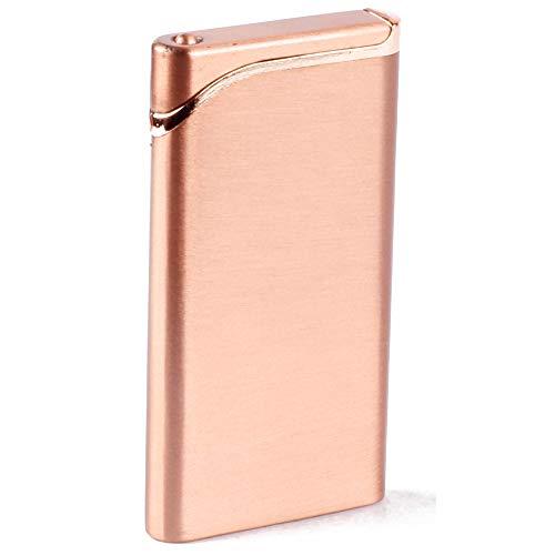 Asraw Refillable Premium Slim and Sleek Classy Windproof Lighter - Elegant Jet Flame Lighter Without Fuel - Empty Lighter Pocket Lighter (Rose Gold)