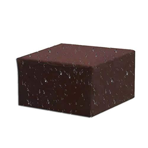 SRTUVDQ Funda para Muebles De Jardín,420D Oxford Impermeable Anti-UV Protección Copertura para Mesas,Cubierta De Exterior Funda Protectora Muebles Mesas Sillas Sofás Muebles,Café,210x140x70cm