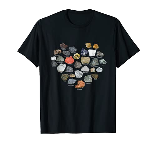 Geology Ores Minerals Gems and Crystals Rock Collecting gift T-Shirt