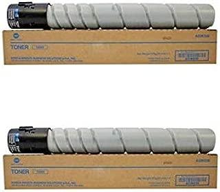 Konica Minolta A33K030 TN322 OEM Toner Cartridge 2 Pack, 24000 Page-Yield Per Ctg, Black