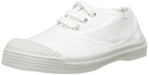 Bensimon Unisex-Kinder Tennis Lacet Enfant Flach, Weiß (Blanc), 27 EU