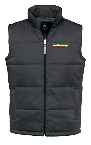 caprica91 FIAT 500 Italien Auto Fun Bestickte Logo Jacke Weste, Super Qualität — 8029 (L)