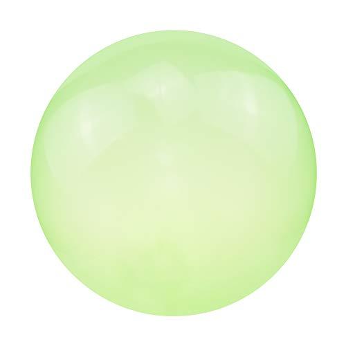 LINMETIC Wassergefüllter Interaktiver Gummi Big Amazing Bubble Ball Aufblasbarer Ballon Mit Blasrohr, Kinderspielzeug Für Sommer Spiele Im Freien Bad Ballonspielzeug (XL,Green)