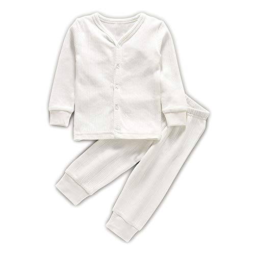 Hold Present Newborn Baby Front open Thermal Top with Pajama...