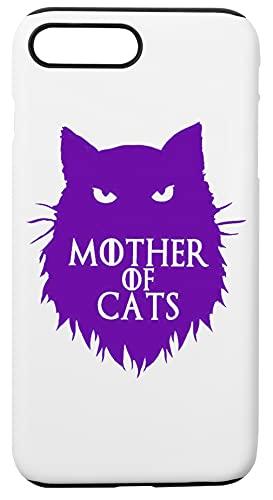 Mother Of Cats Custodia Per Telefono Compatibile Con iPhone 7+, iPhone 8+ Copertura in Plastica + Silicone Dura Hard Plastic Cover