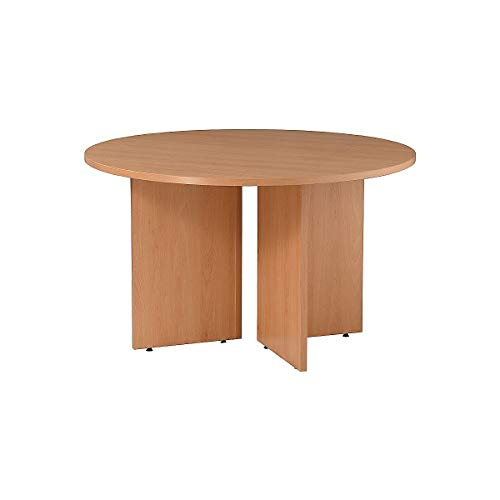 Certeo Runder Besprechungstisch   Durchmesser: 1200 mm   H: 730 mm  Buche   Tisch Tischplatte Schreibtisch Bürotisch