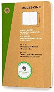 Moleskine Evernote Journal with Smart Stickers, Pocket, (Set of 2), Ruled, Kraft Brown, Soft Cover (3.5 x 5.5)
