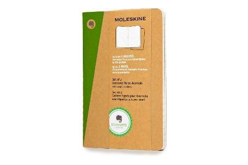 Moleskine SKQP411EVER - Pack de 2 diarios cuadriculados Evernote (Moleskine Evernote)
