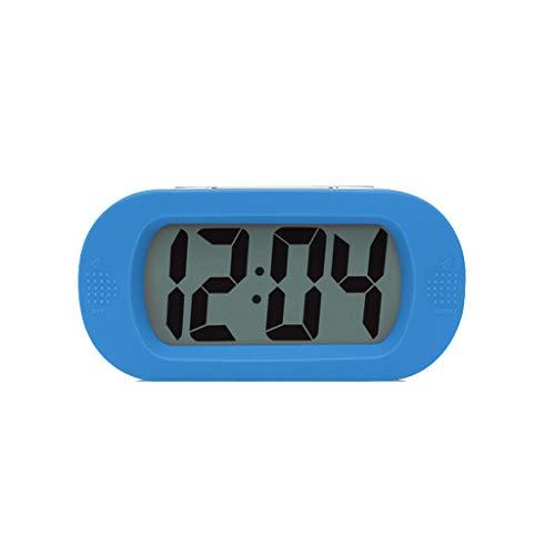 Luz nocturna analógica Reloj despertador silencios Silencioso Estudiante Despertador LCD Función Snooze Niños Reloj de Escritorio Dormitorio Concha de Silicona Retroiluminación Pantalla Reloj Reloj ru