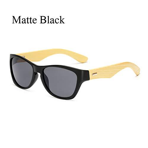GEDASHU Sonnenbrille Original Holz Bambus Sonnenbrille Männer Frauen gespiegelt Uv400 Sonnenbrille Echtholz Shades Gold Blue OutdoorSonnenbrillen Männlich
