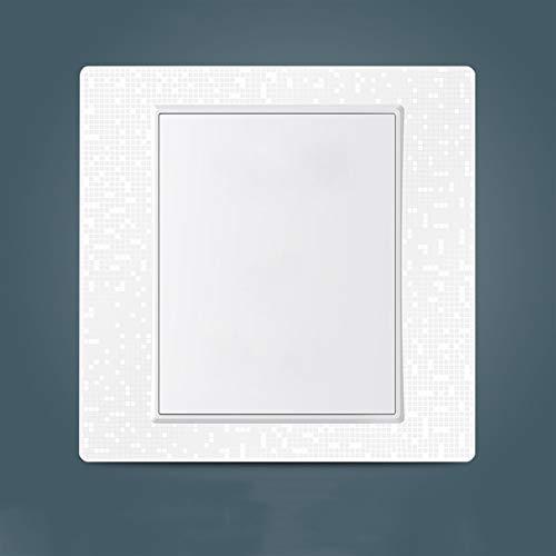 Foicags Switch de panel 4D 86 Tipo Interruptor de pared doméstico Nórdico Minimalista Panel de luz del panel de luz oculto incorporado incorporado interruptor de hotel restaurante Single o doble contr