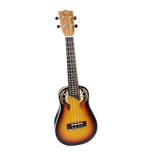 QLJ08 23 pulgadas Compacto Ukelele Ukelele Rojo Sunset Glow Rosewood Fretboard Bridge Concert Instrumento de cuerda con