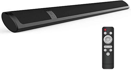 Meidong Barra de Sonido para TV Bluetooth 4.2 Inalámbrico Barras de Sonido Delgada 2 Altavoces 36 Vatios Bajo Profundo Envolvente Estéreo Control Remoto para HDMI/RCA/Opt/AUX/Coax/3.5mm Audio