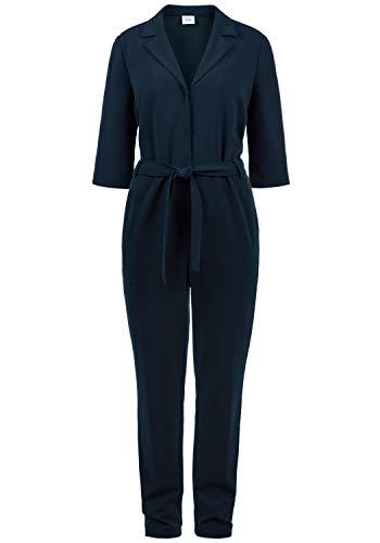ONLY Jamila Jumpsuit Overall Einteiler Mit V-Ausschnitt Und Gürtel, Größe:M, Farbe:Dark Saphire