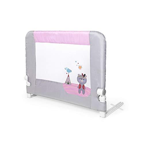 Interbaby - Barandilla Anticaídas Abatible Para Camas Infantiles - 90 Cm - Osito Rosa, 2600 g