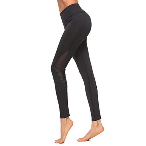 OPALLEY Sporthose Damen High Waist Blinkdicht Sport Leggings Elastische Tummy Control Yogahose Lange Laufhose mit Taschen