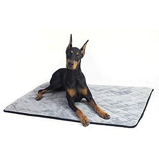 4Knines Dog Crate Mat (Large, Grey) 4