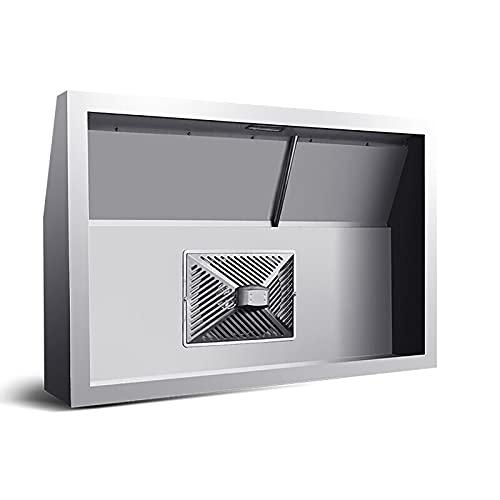 PEIHAN 31/39-Zoll-Dunstabzugshaube aus Edelstahl, Dunstabzugshaube für Wandmontage, LED-Beleuchtung für die Edelstahlhaube, Küchenabzugshaube, Kaminofenabzugshaube an der Decke