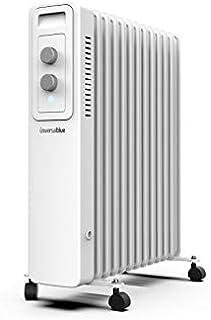 UNIVERSALBLUE | Radiador de Aceite | 2500W | Color Blanco | 13 Elementos calefactores | 3 Potencias | Silencioso | Sistema...