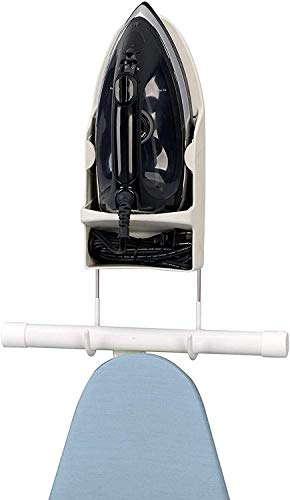 KGYL Ironing Board Hanger Wall Mount,High Temperature Resistance,Lroning Board Hook,Bathroom Storage Rack/White
