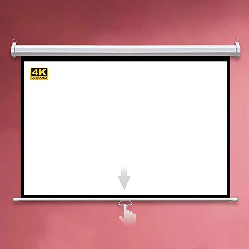 GYX-Décoration Schermo di Proiezione, Schermo di Proiezione a Discesa con Funzione di Blocco Automatico, Utilizzato per L'intrattenimento Home Theater -4: 3/16: 9