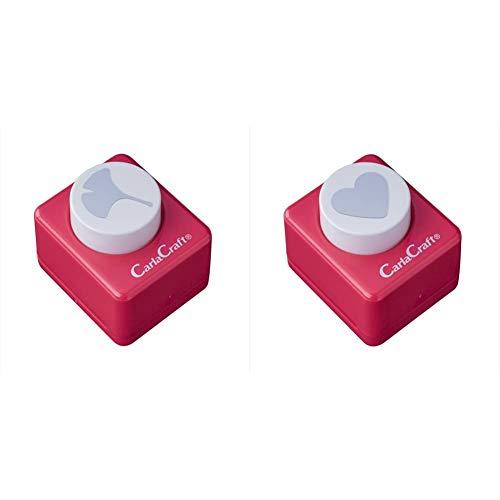 【セット買い】カール事務器 クラフトパンチ ミドルサイズ イチョウ CP-2 & クラフトパンチ ミドルサイズ ハート CP-2
