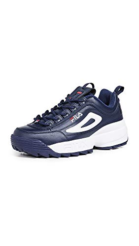 Fila Men's Disruptor II Premium Trainers, Navy Multi, 12 Medium US