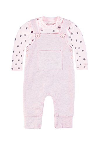 bellybutton KiKo Unisex, Strampler, Set 2tlg. T-Shirt 1/1 Arm + Overall, Rosa (cradle Pink 2994), 68