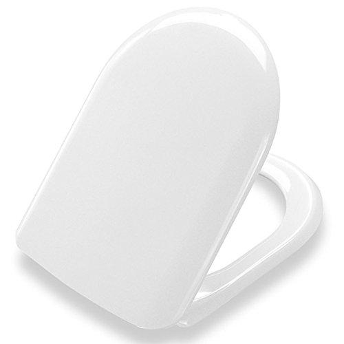 Villeroy & Boch WC-bril Magnum Pressalit, hoogwaardige toiletbril van Duroplast met roestvrijstalen scharnieren en deksel, wit, art.nr. 104000B33999