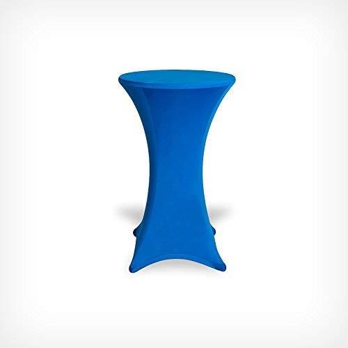 DRULINE Stehtischhussen Tischhusse Tisch Husse Stehtisch Bistrotisch Hussen Tischbezug Bezug (70x120, Blau)
