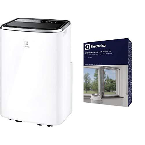Electrolux EXP26U538HW ChillFlex Pro 10 A+ HP Climatizzatore Portatile, funzione riscaldamento pompa di calore 10K BTU, Classe A+/A++ + Window e Door EWS01 Kit per Sigillare Finestre e Porte