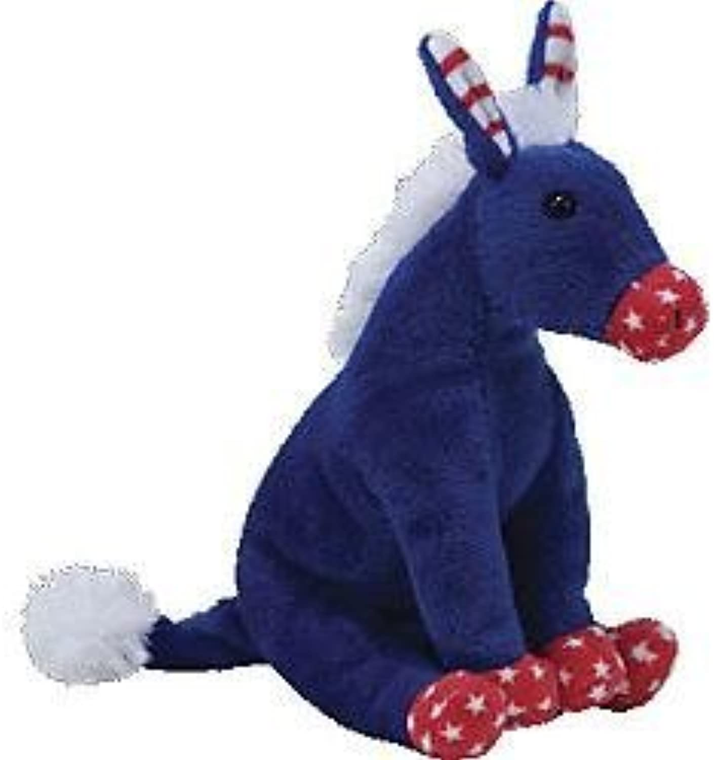 Ty Beanie Babies 2.0 Lefty Patriotic blueee Donkey by Ty Beanie Babies 2.0 Lefty Patriotic blueee Donkey