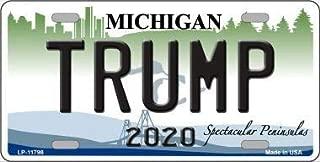 Bargain World Trump 2020 Michigan Novelty License Plate (Sticky Notes)